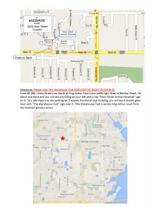 Directions to The Warehouse Club. (Click for larger image.)